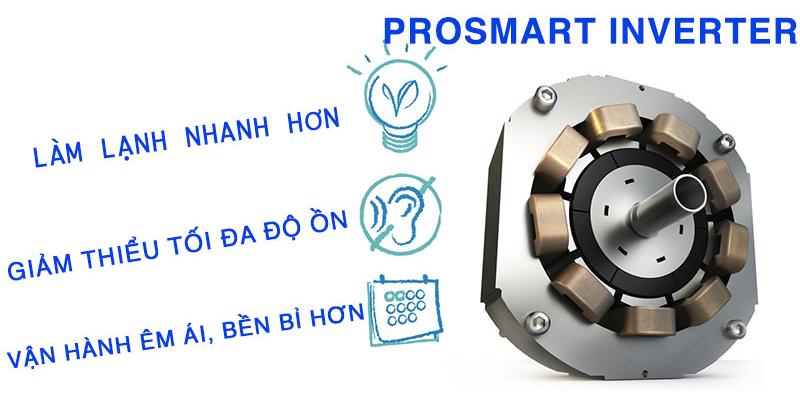 Công nghệ ProSmart Inverter cho khả năng tiết kiệm điện lên đến 60%