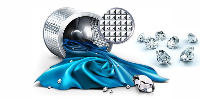 Lồng giặt kim cương giúp làm sạch hiệu quả