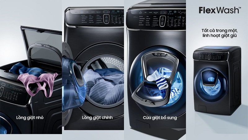 Máy giặt thiết kế lồng đôi siêu phẩm của Samsung