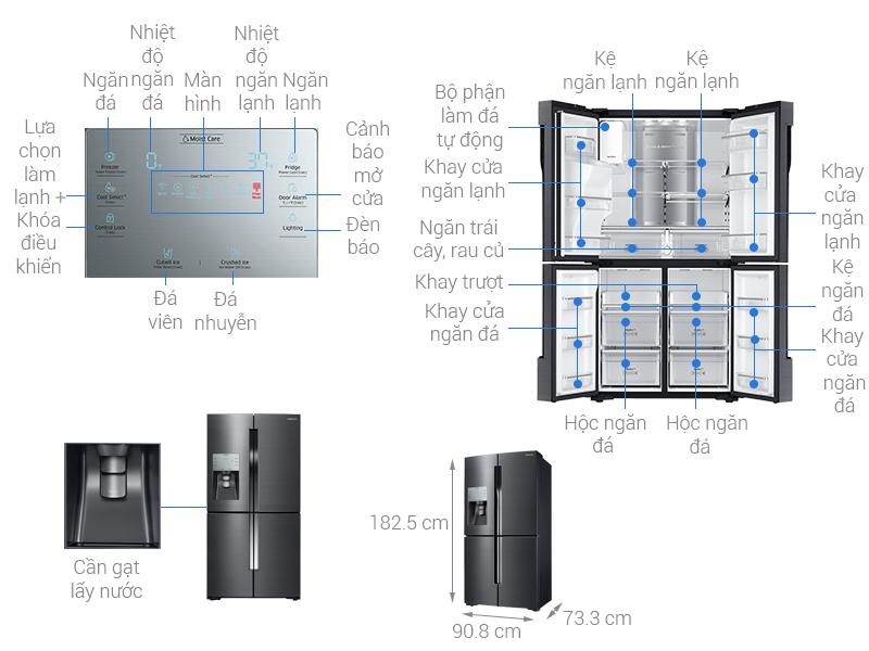 Thông số kỹ thuật Tủ lạnh Samsung 564 lít RF56K9041SG/SV