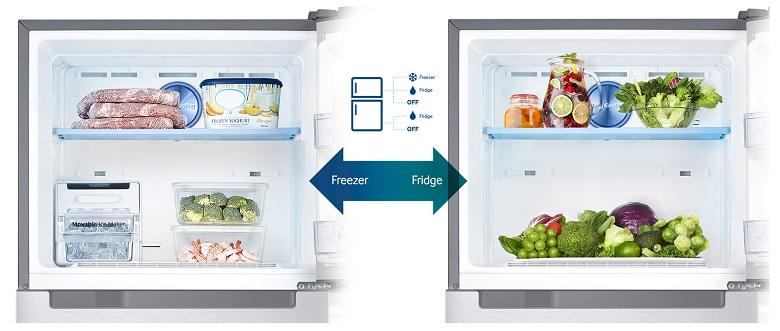 khả năng chuyển đổi linh hoạt của tủ lạnh Samsung RT29K5012S8/SV