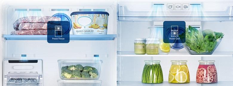 khả năng làm lạnh nhanh chóng của tủ lạnh Samsung RT29K5012S8/SV