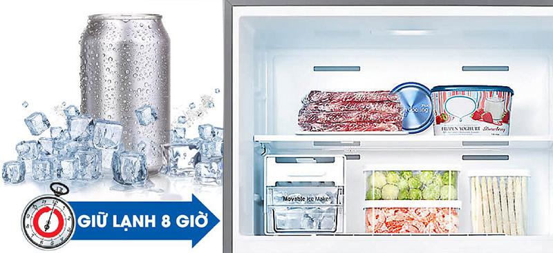 Chức năng giữ lạnh ngăn đông khi mất điện