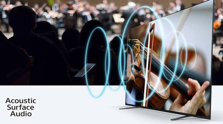 Android Tivi OLED Sony 4K 55 inch KD-55A8H - Acoustic Surface Audio