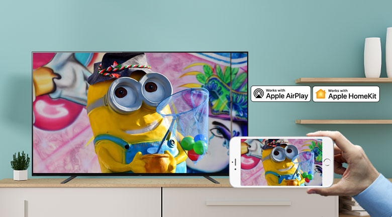 Android Tivi OLED Sony 4K 55 inch KD-55A8H - Apple HomeKit/Apple AirPlay