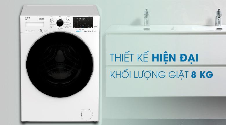 Thiết kế - Máy giặt Beko Inverter 8 kg WCV8649XWST