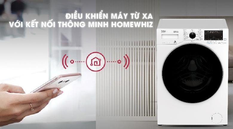 Kết nối thông minh HomeWhiz - Máy giặt Beko Inverter 8 kg WCV8649XWST