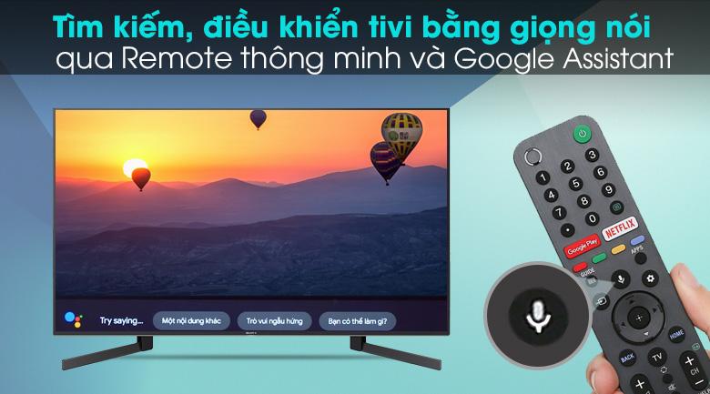 Android Tivi Sony 4K 49 inch KD-49X9500H - Điều khiển tivi bằng giọng nói