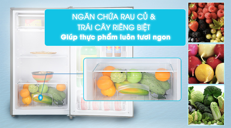 Ngăn rau củ riêng biệt - Tủ lạnh Beko 93 lít RS9051P