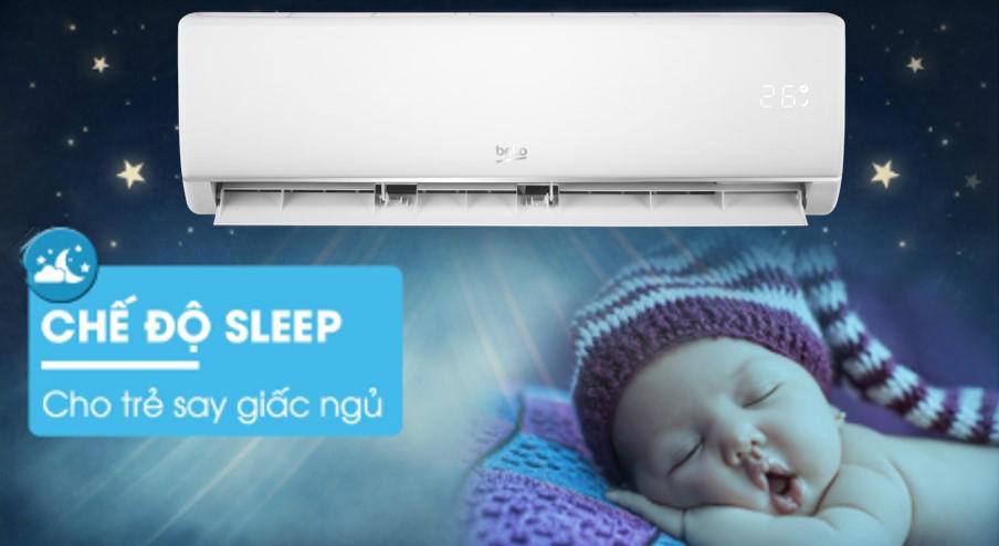 Điều hòa Beko Inverter 12000 BTU RSVC12VT - chế độ Sleep