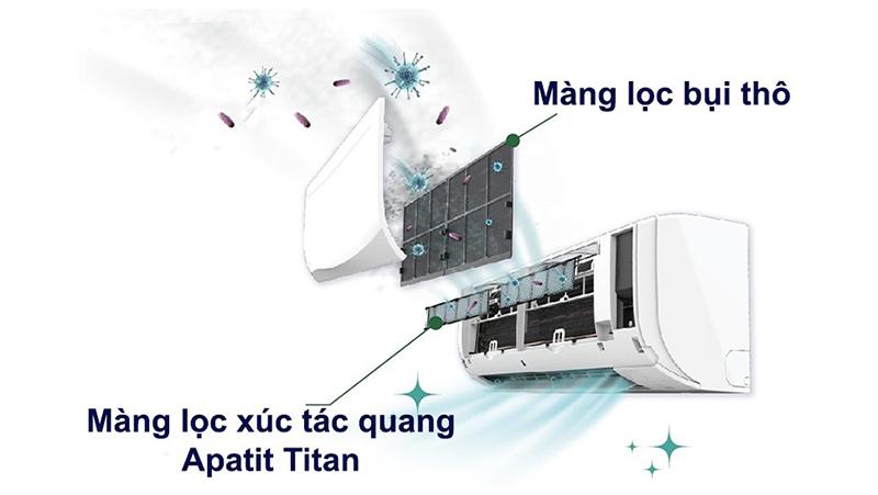 Điều hòa Daikin 11100 BTU FTF35UV1V - Phin lọc xúc tác quang Apatit Titan