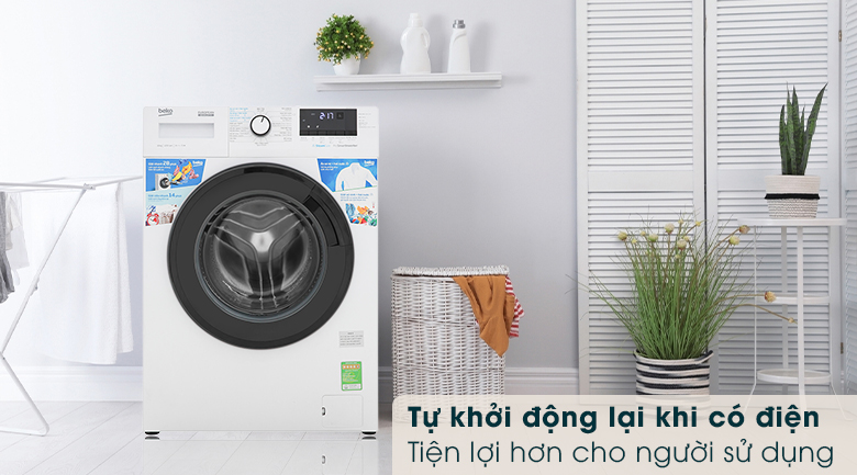 Máy giặt Beko WCV10612XB0ST - Tự khởi động lại khi có điện