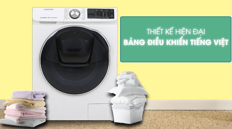 Máy giặt sấy Samsung AddWash Inverter 10.5 kg WD10N64FR2W/SV - Thiết kế