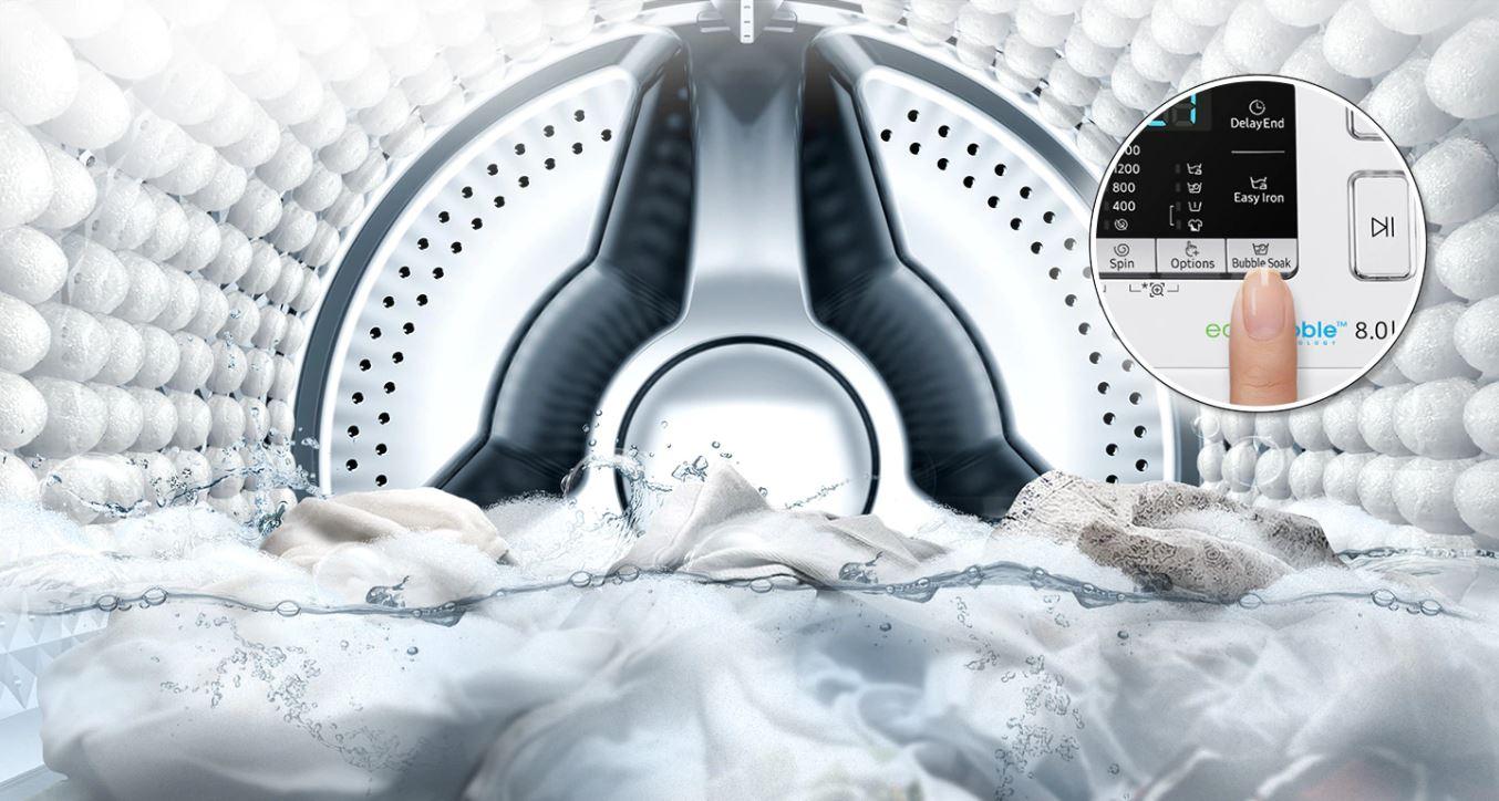 Máy giặt Samsung Inverter 8 kg WW80J52G0KW/SV