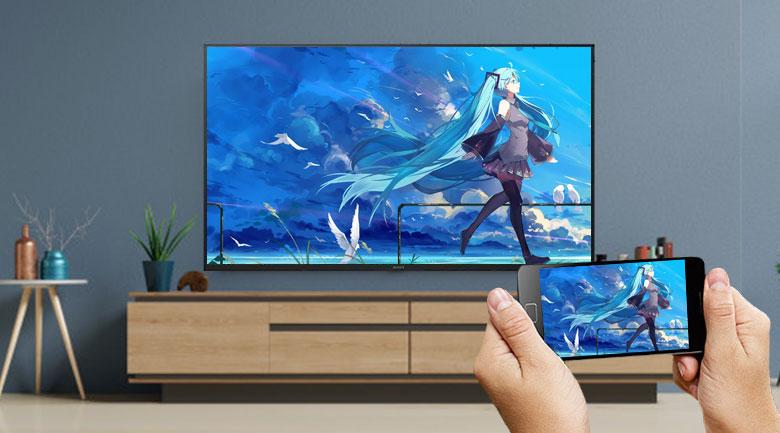 Android Tivi Sony 4K 43 inch KD-43X7500H - Chiếu màn hình Chromecast