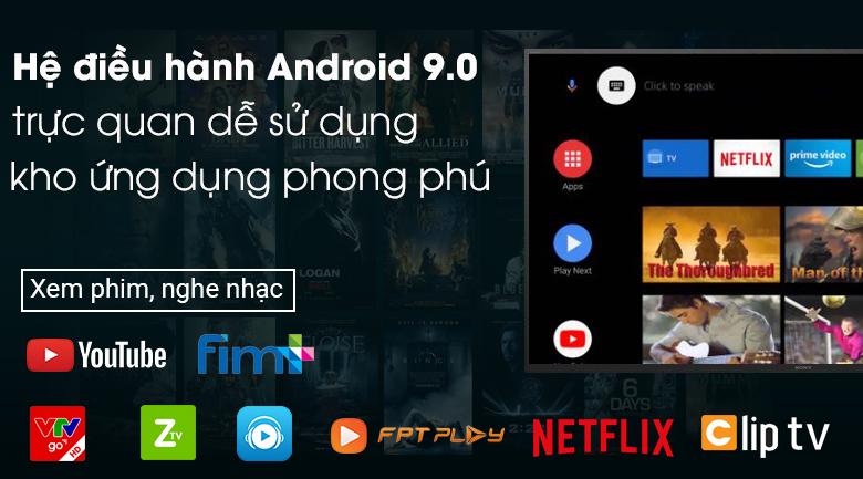 Android Tivi Sony 4K 43 inch KD-43X7500H - Hệ điều hành Android 9.0