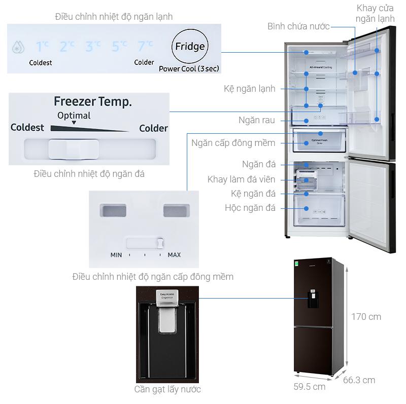 Thông số kỹ thuật Tủ lạnh Samsung Inverter 307 lít RB30N4170BY/SV
