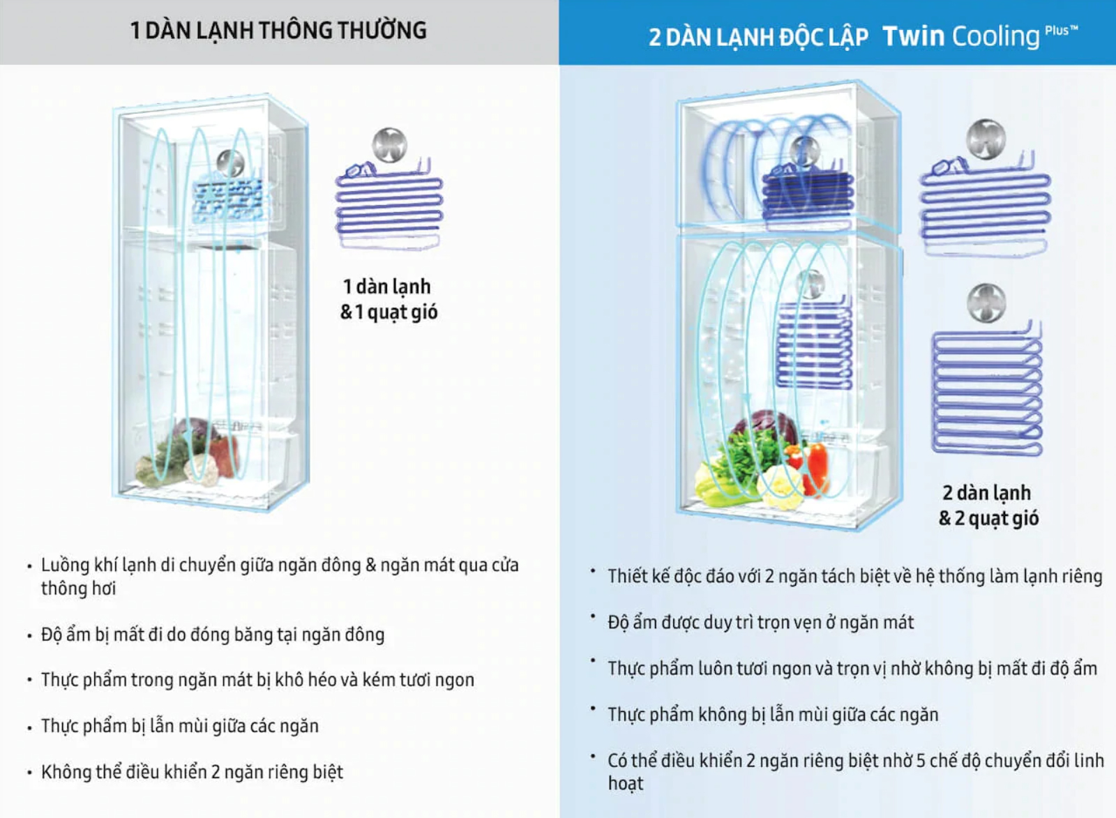Twin Cooling Plus Tủ lạnh Samsung