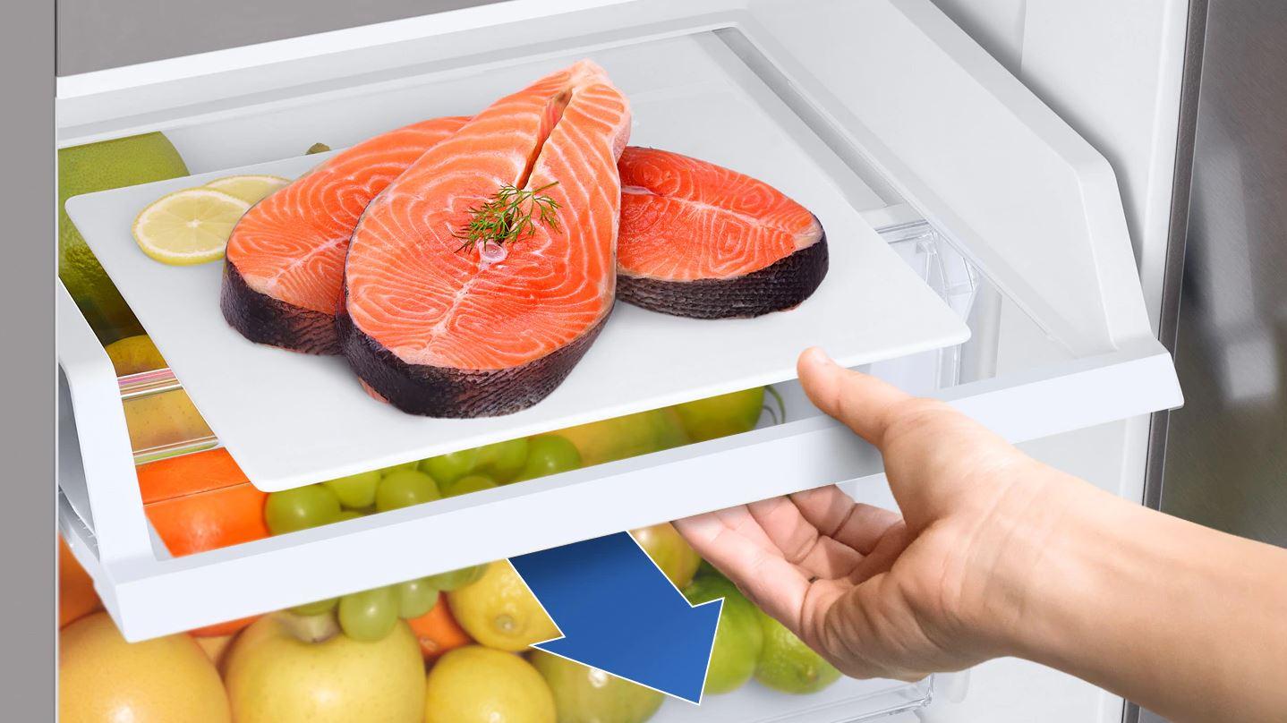 Tủ lạnh Samsung Inverter 650 lít RS65R5691B4/SV - Ngăn trượt EZ