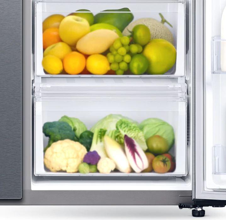 Tủ lạnh Samsung Inverter 650 lít RS65R5691B4/SV - Mở rộng không gian dự trữ rau quả
