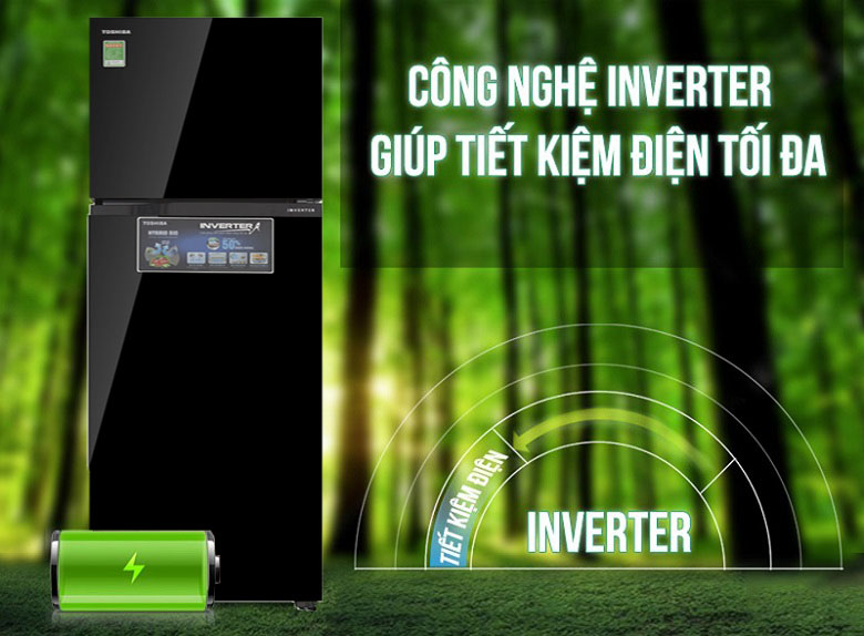 Công nghệ Inverter - Tủ lạnh Toshiba Inverter 330 lít GR-AG39VUBZ XK1