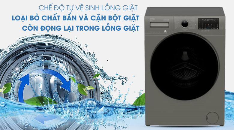 Tự làm sạch-Máy giặt Beko Inverter 10 kg WCV10749XMST